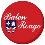 Baton Rouge (Louisiana) Flag 25mm Button Badge